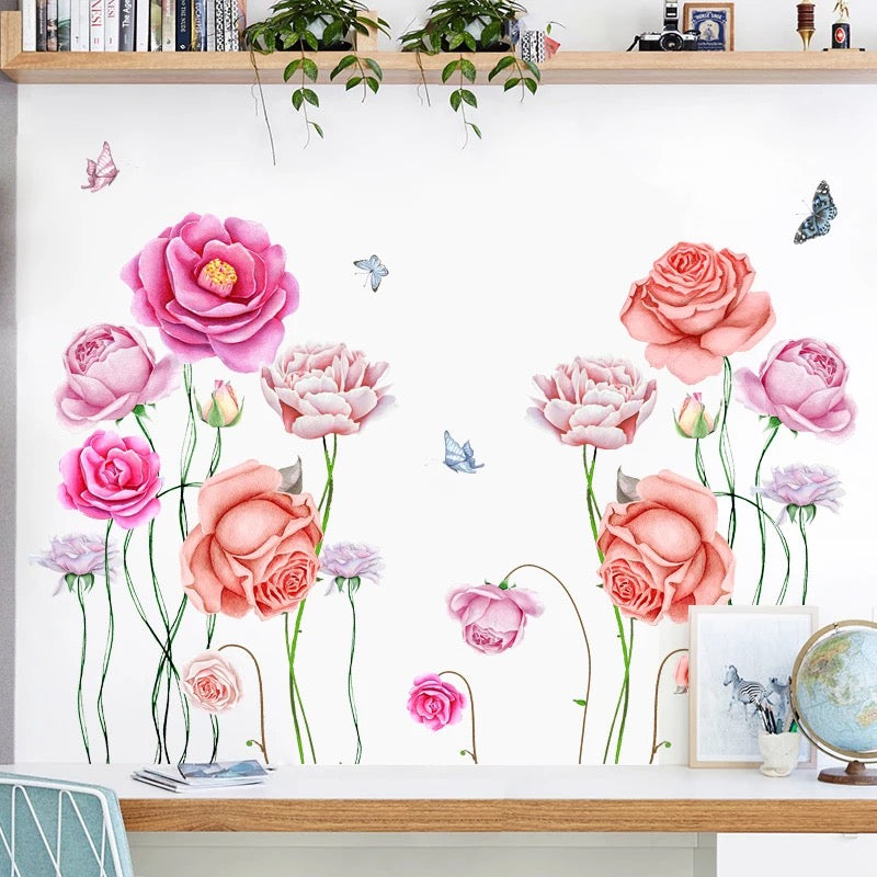 Rose Wall Decals- Flowers Wall Decals