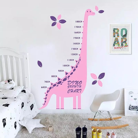 Dinosaur Wall Decals-  Kids Height Chart Decals