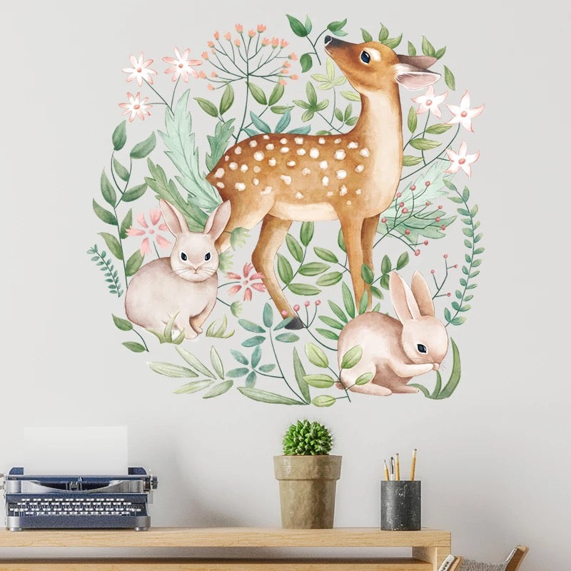 Rabbits & Deer Wall Stickers
