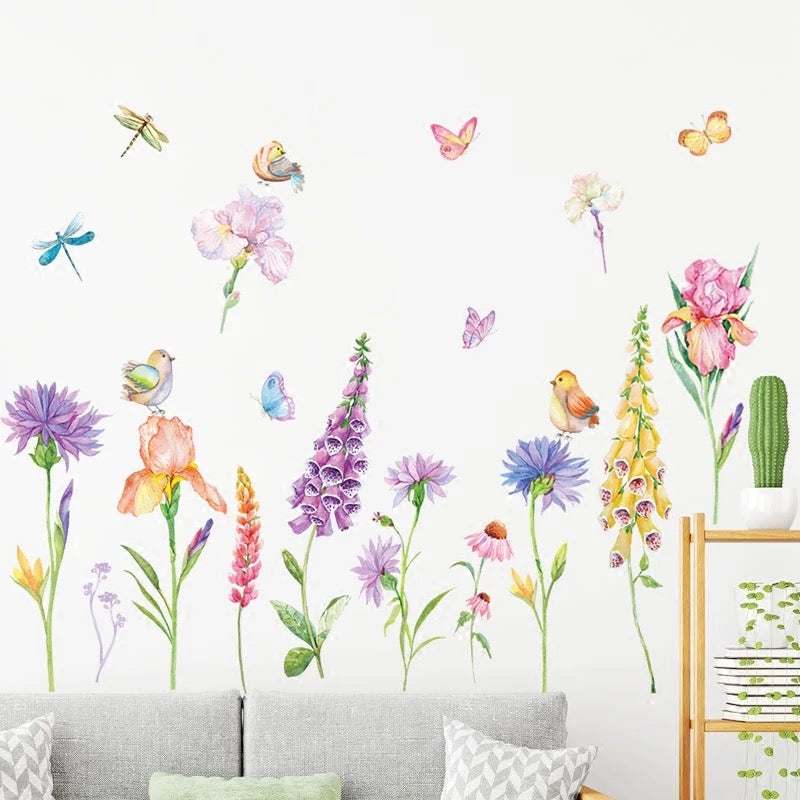 Purple bell orchid Wall Decals