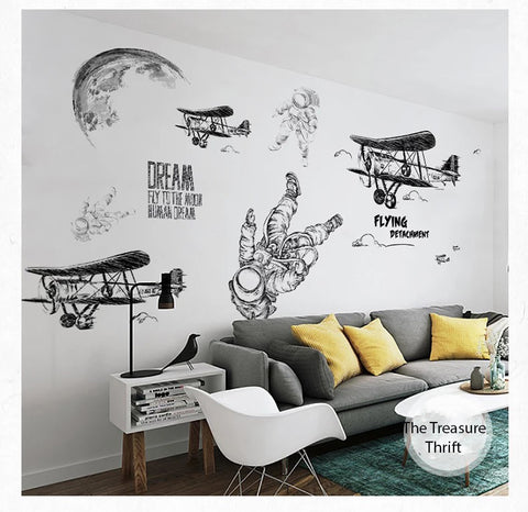 Outer Sapce Wall Decals- Living Room Decals