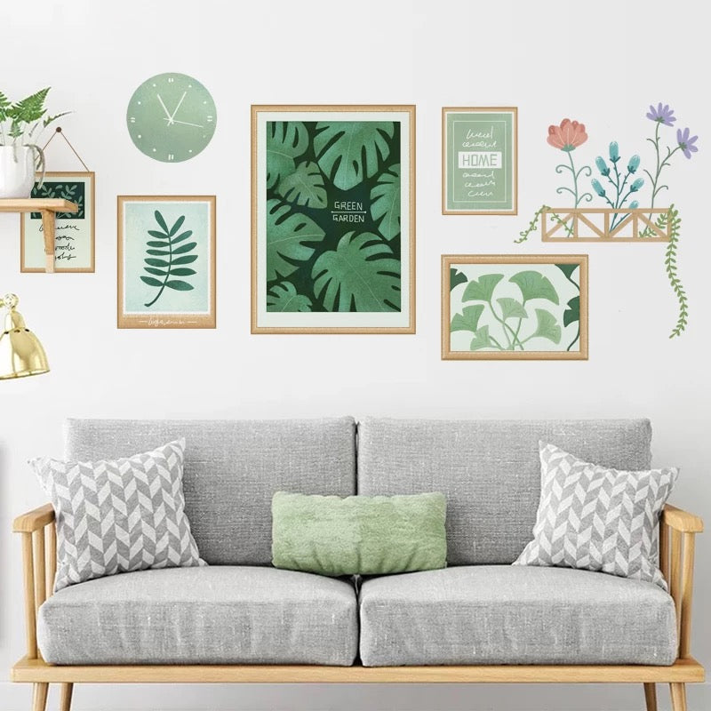 Plants Wall Decals For Living Room