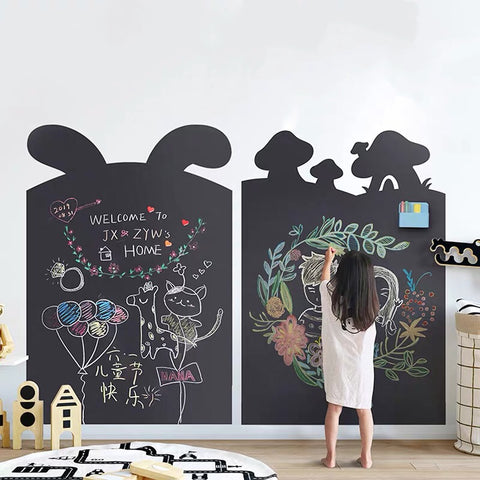 Magnetic Blackboard Wall Sticker with Chalks for Home/School/Playroom