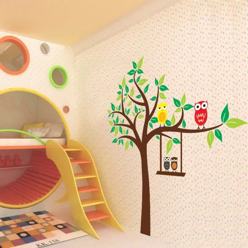 Owls & Tree Wall Decal