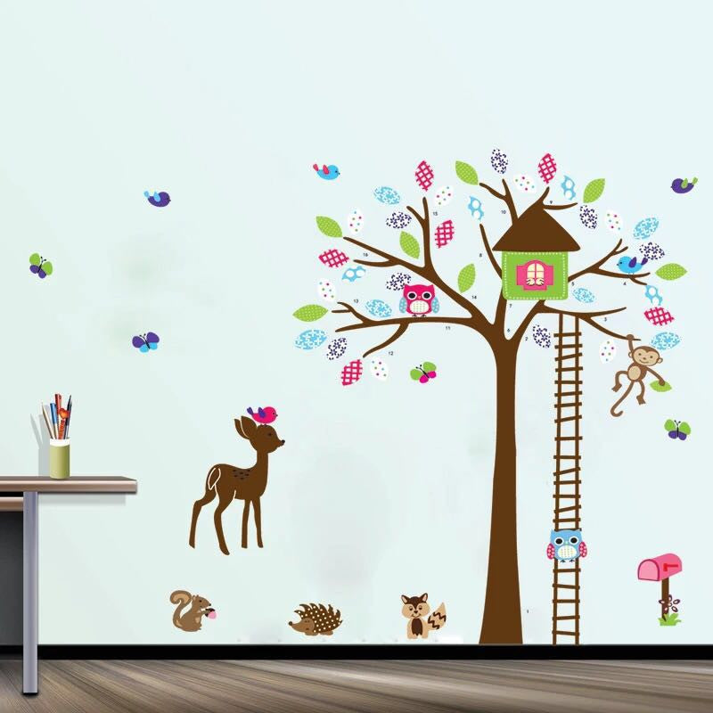 Animals & Tree Wall Decal