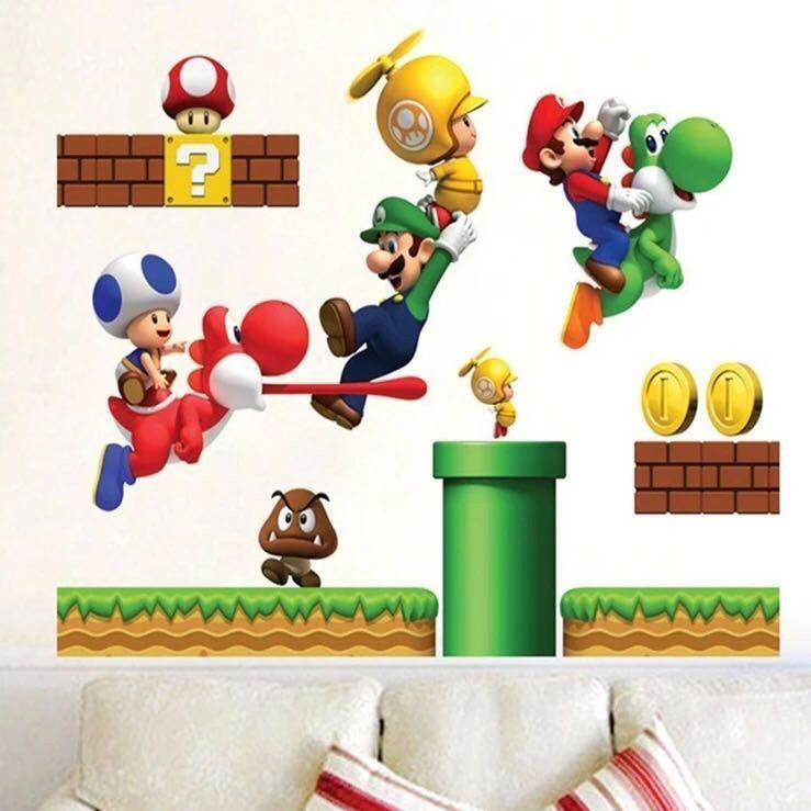 Super Mario Wall Decal
