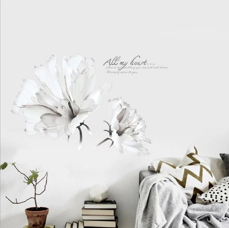 White Flower Wall Decals