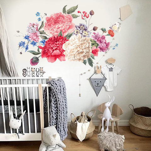 Flower Wall Decals- Nursery Wall Decals