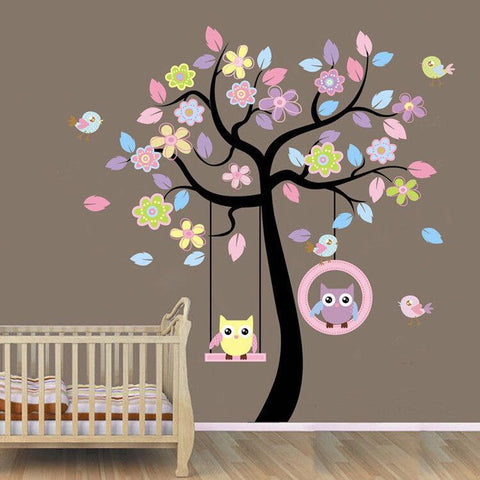 Owls Tree Wall Decal