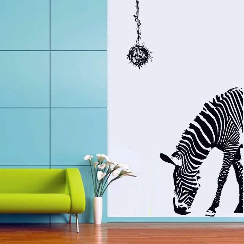 Large Zebra Removable Wall Stickers