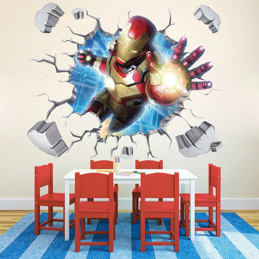 Marvel 3D Iron Man Wall Decals