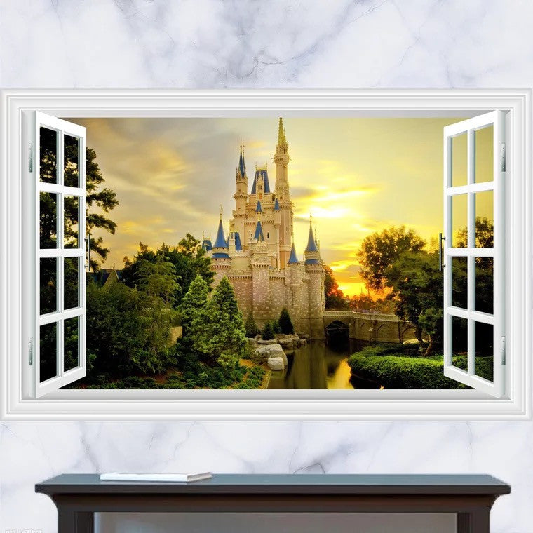 Disney Castle Peel & Stick Wall Decals