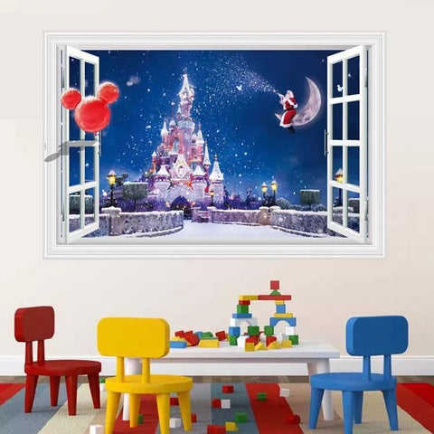 Disney Castle & Micky Mouse Wall Decals