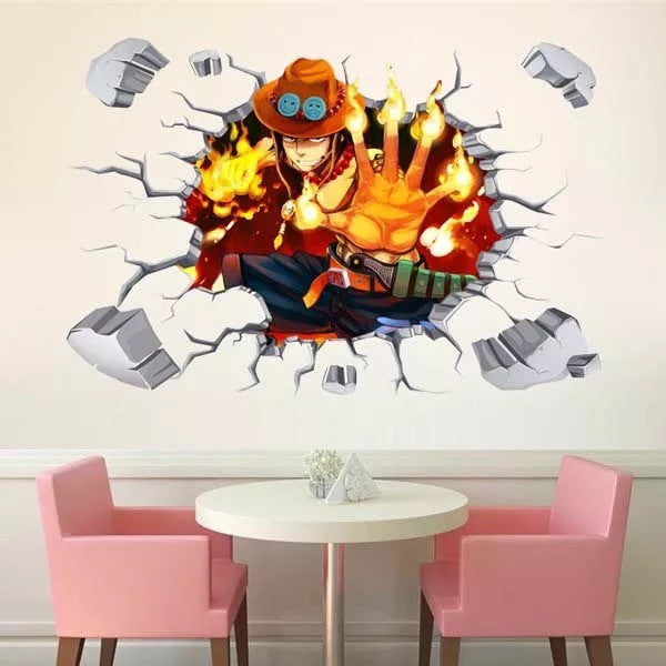 One Piece-Ace Wall Decals