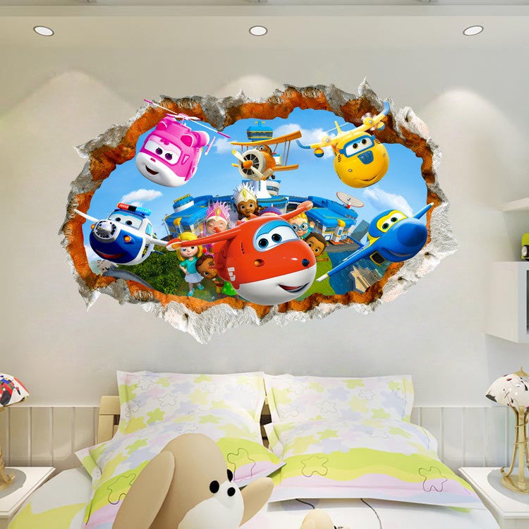 Super Wings Wall Decals Wall Stickers The Treasure Thrift