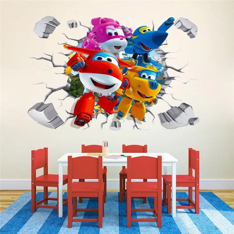 Super Wings Wall Decals & Wall Stickers