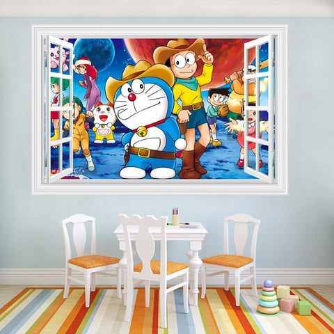 Doraemon Peel and Stick Wall Decals