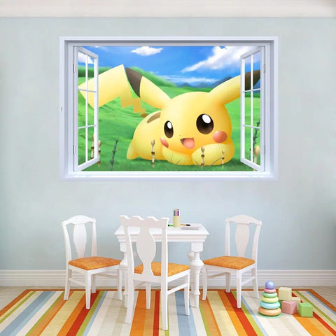 Pikachu Wall Decals & Wall Stickers