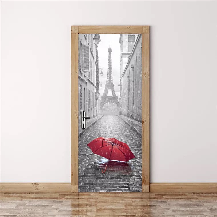 Eiffel Tower Door Stickers