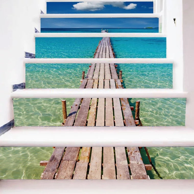 Beach Steps Stair Stickers
