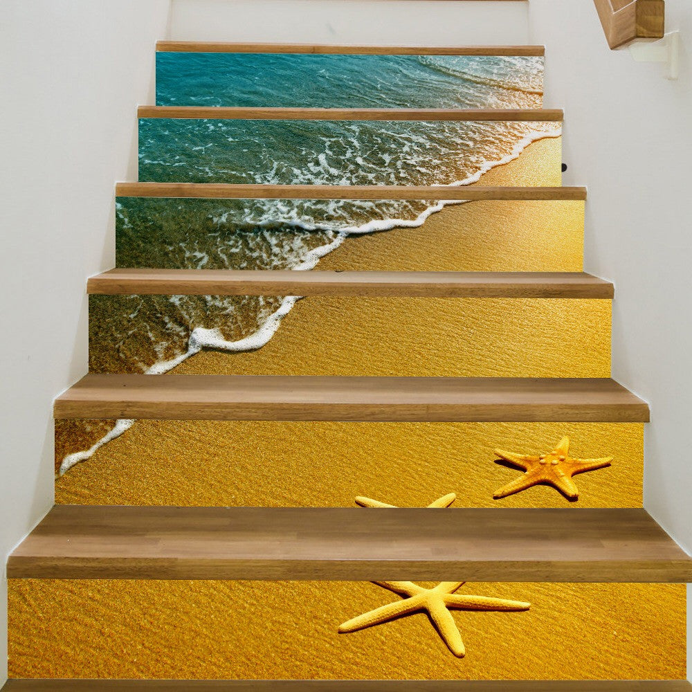 Starfish Steps Stair Stickers