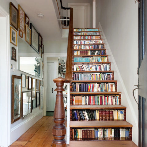 Bookcase Steps Stair Stickers