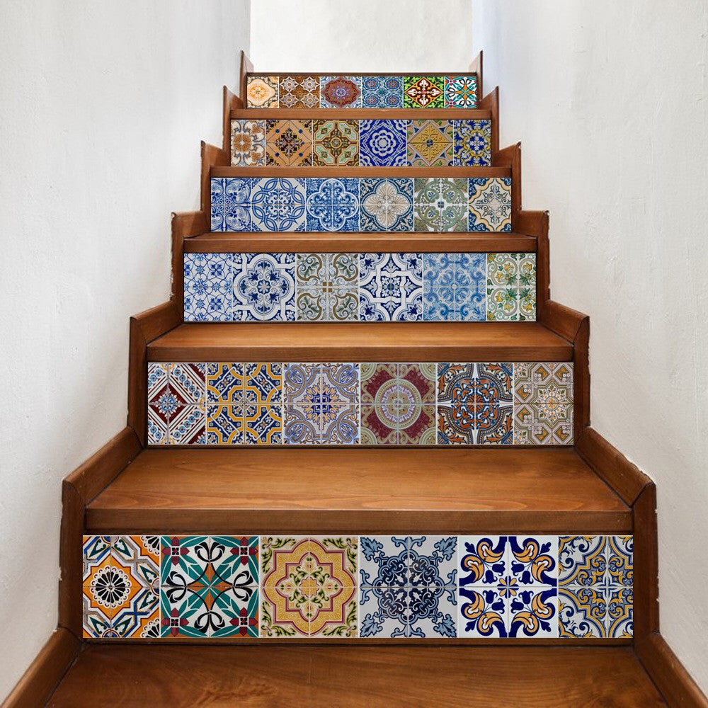 Ceramic Tiles Patterns Steps Stair Stickers