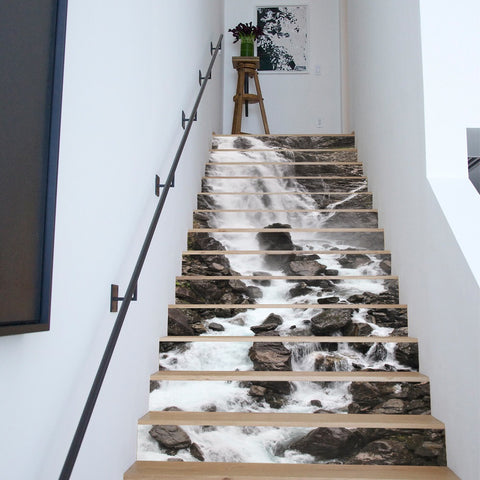 Waterfall Steps Stair Stickers