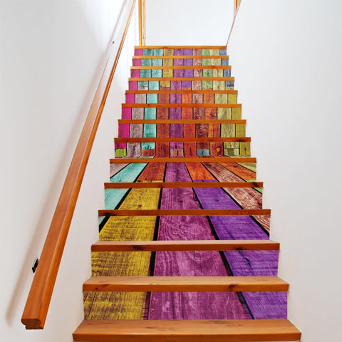 Color Cabin Steps Stair Stickers