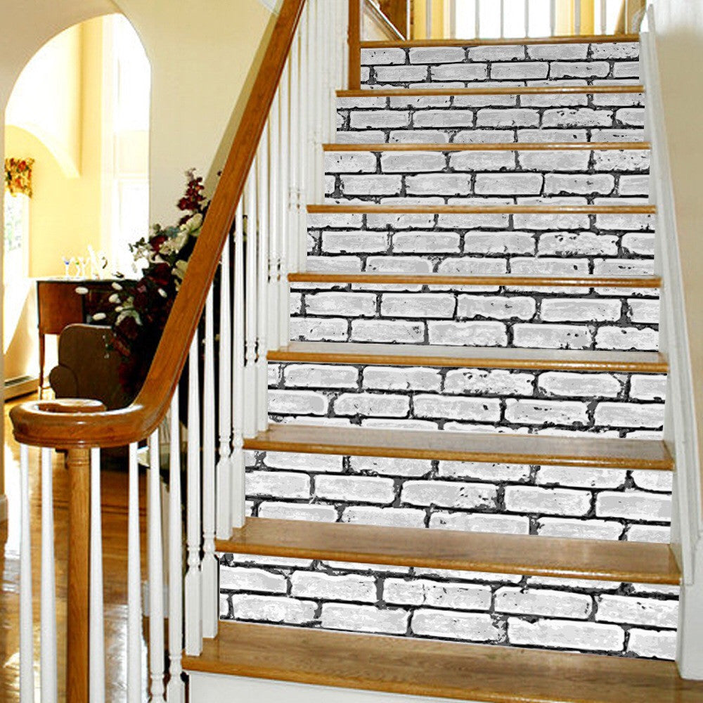 Brick Wall Steps Stair Stickers