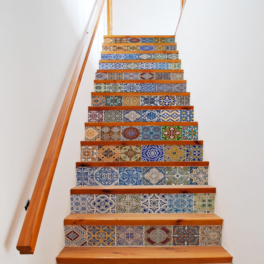 Ceramic Tiles Pattern Steps Stair Stickers