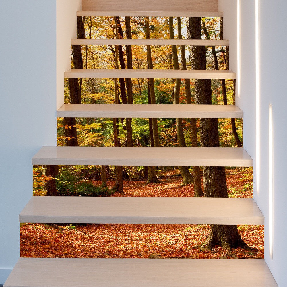 Fall Forest Steps Stair Stickers