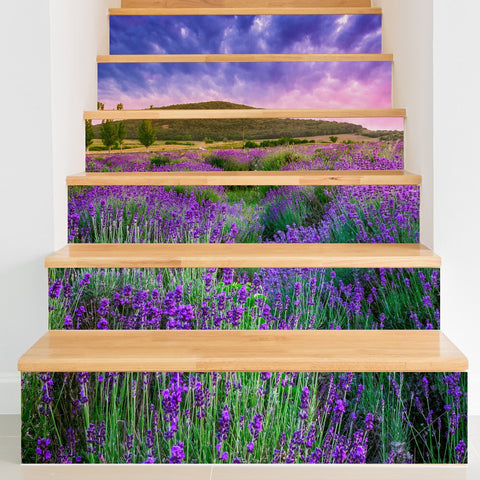 Lavender Steps Stair Stickers