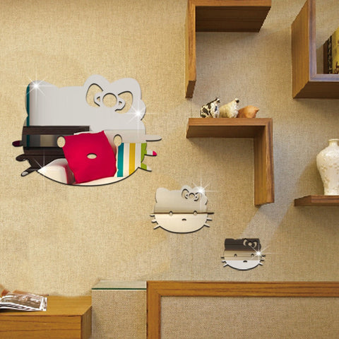 Hello Kitty Mirror Wall Decals