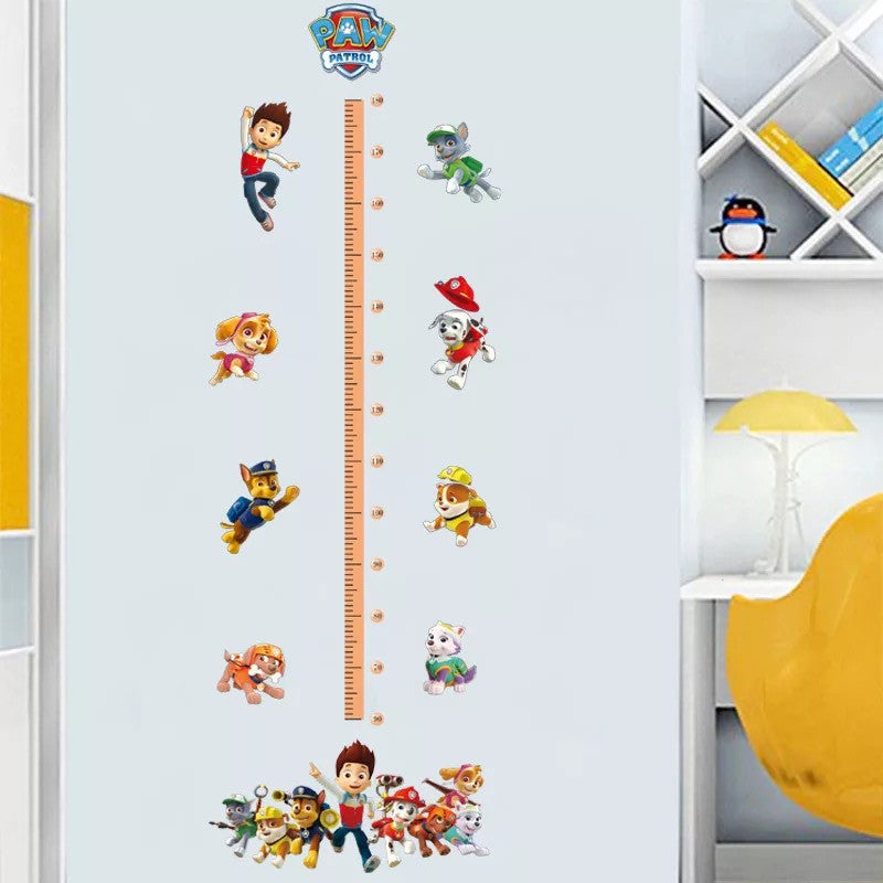 Paw Patrol Height Chart Wall Sticker