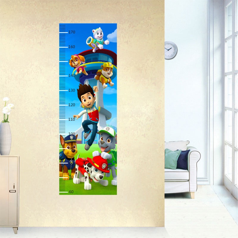 Paw Patrol Height Chart Wall Decal