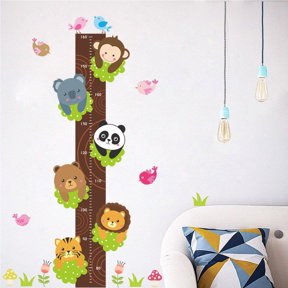 Monkey & Panda Height Chart Wall Decal
