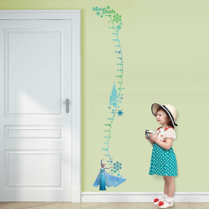 Disney Frozen Elsa Height Chart Wall Stickers