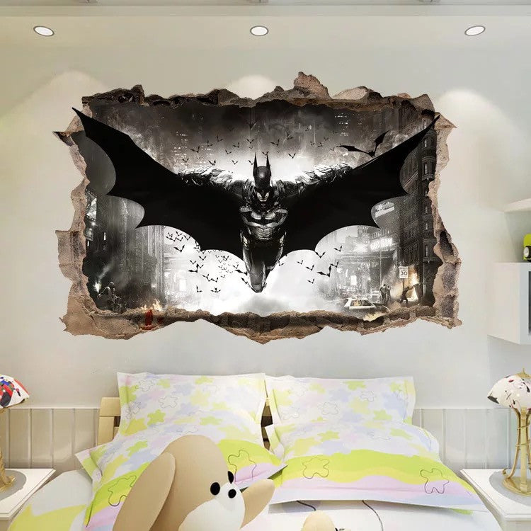 3D Batman Wall Decals