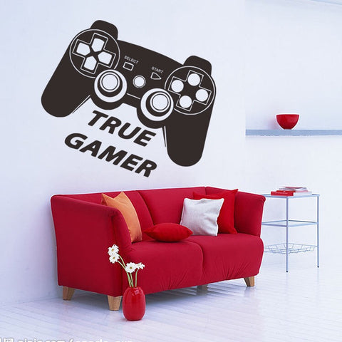 True Gamer Wall Sticker