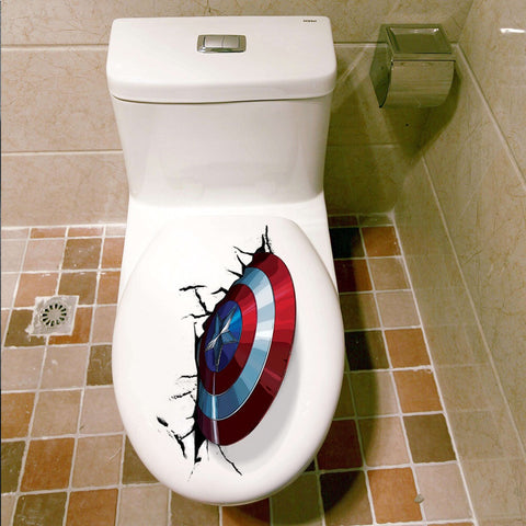 Captain America's shield Wall Decals