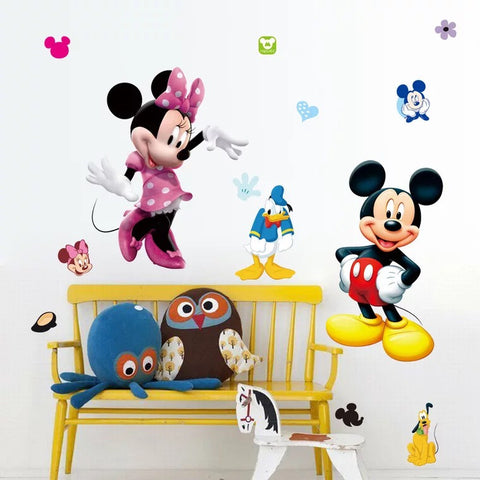 Mickey Mouse & Minnie Mouse Wall Decals