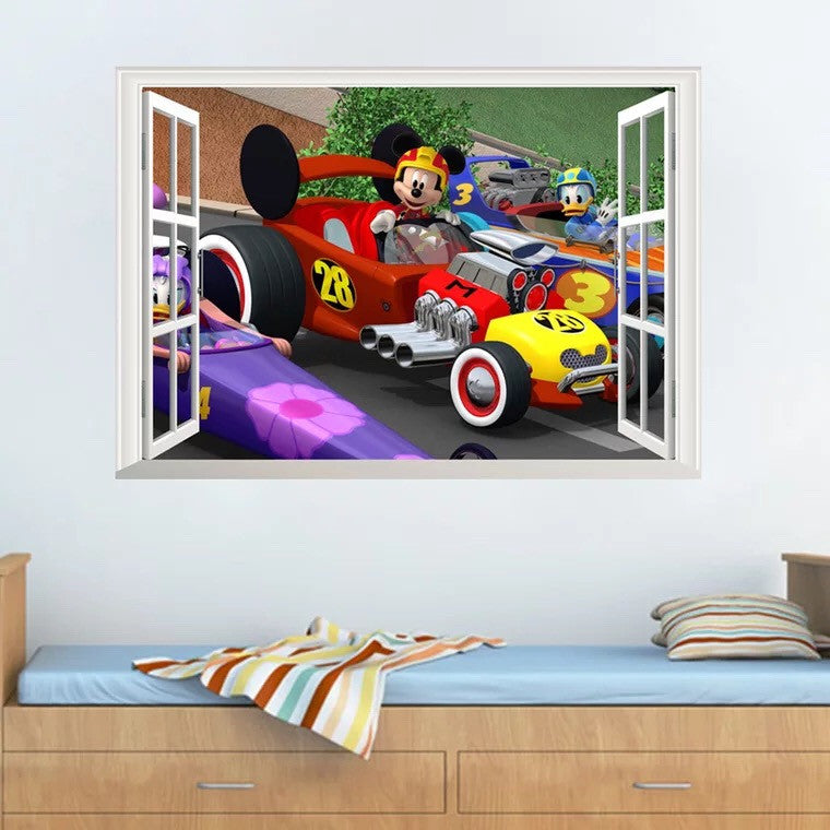 Mickey Mouse Roadster Wall Decals