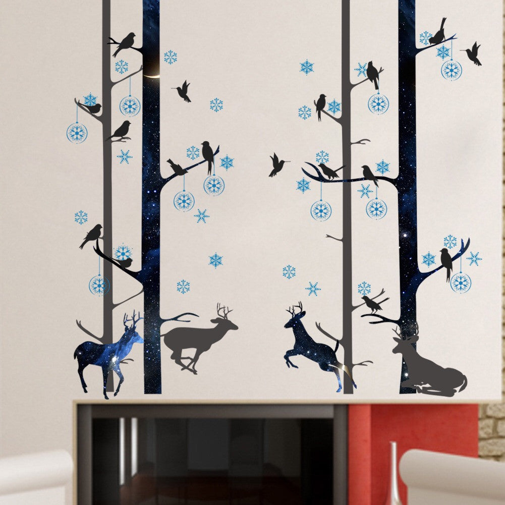 Forest Deer & Birds Wall Decal
