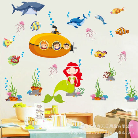 The Little Mermaid Peel And Stick Wall Sticker