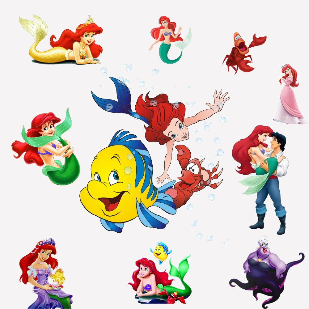 Little Mermaid Princess Wall Decals
