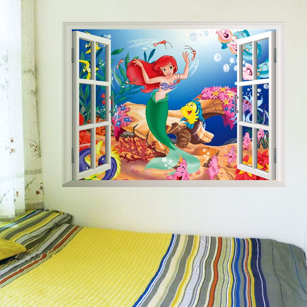 The Little Mermaid Nursery Wall Decals The Treasure Thrift