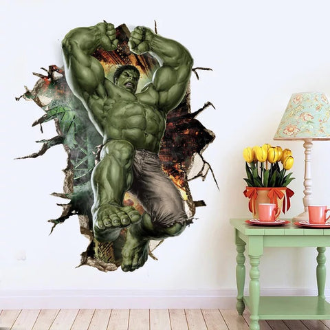 Marvel 3D Incredible Hulk Wall Decals