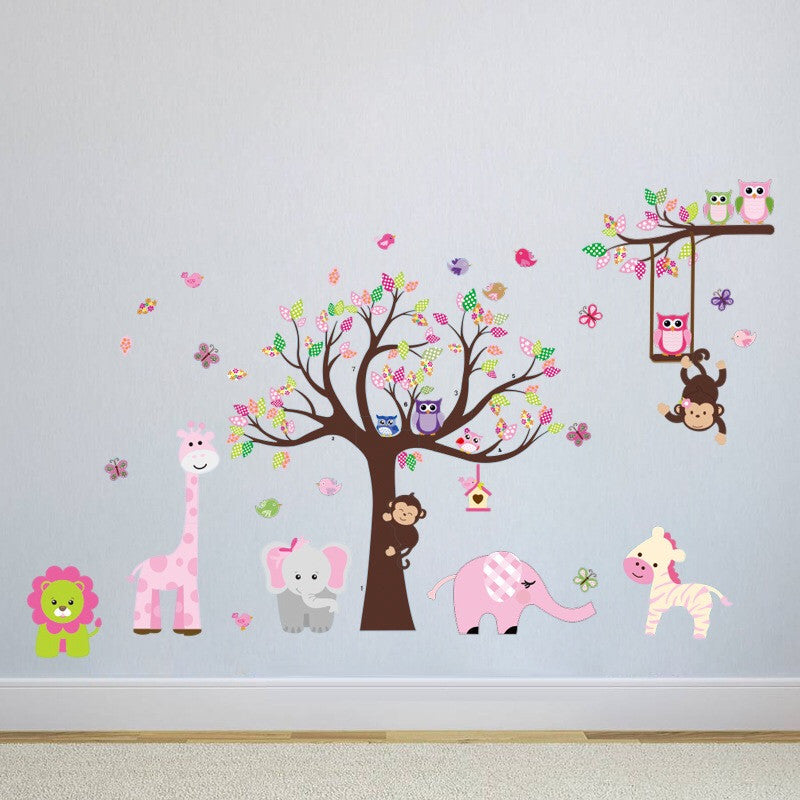 Jungle Animals & Tree Wall Stickers