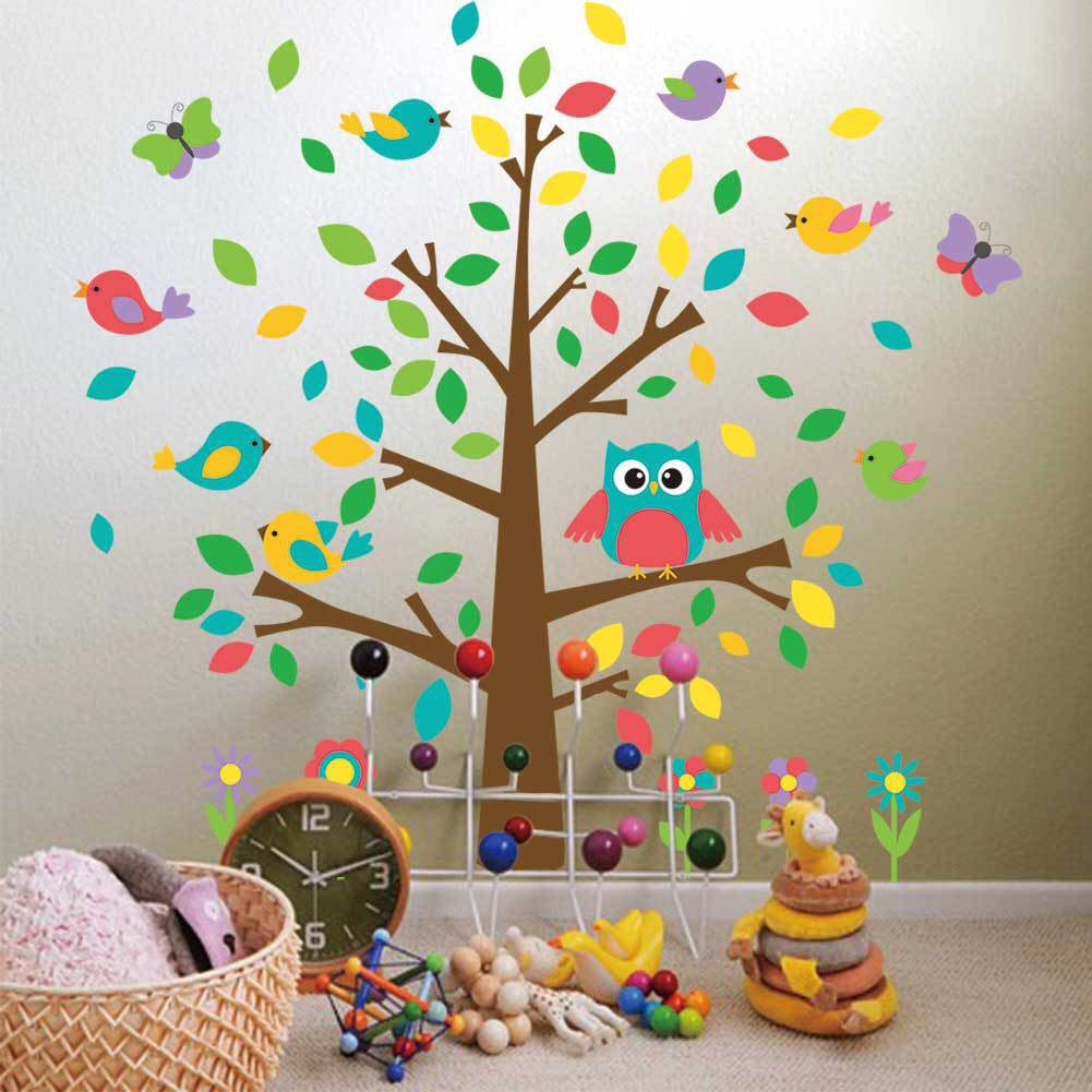 Owls & Tree Wall Stickers For Kid's Bedroom